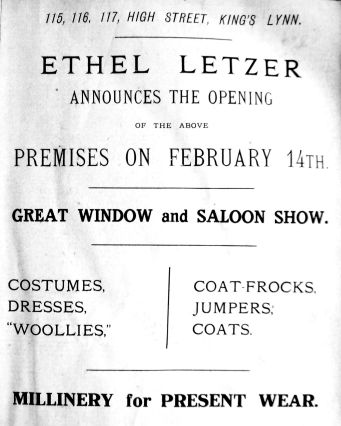 1925 Feb 13th Ethel Letzer moves in