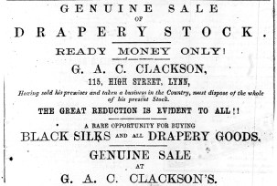 1876 Feb 19th G A C Clackson