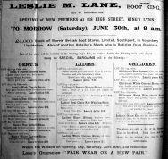 1923 June 29th Leslie M Lane opens