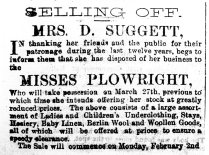 1880 Jan 31st Suggett & Misses Plowright
