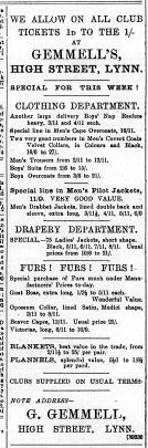 1891 November 14th George Gemmell @ No 119