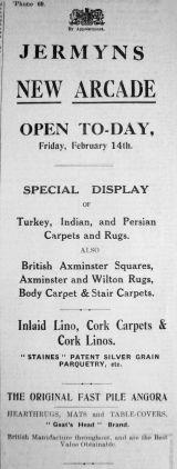 1930 Feb 14th Jermyns new arcade 1