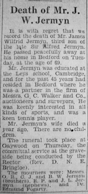 1947 JUne 6th obit James Jermyn