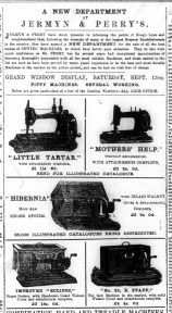 1890 September 13th Jermyn & Perry Sewing machines