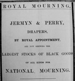 1901 Jan 25th Jermyn & Perry mourning Queen Victoria