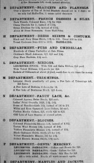 1906 Feb 16th Jermyn & Perry List of Departments