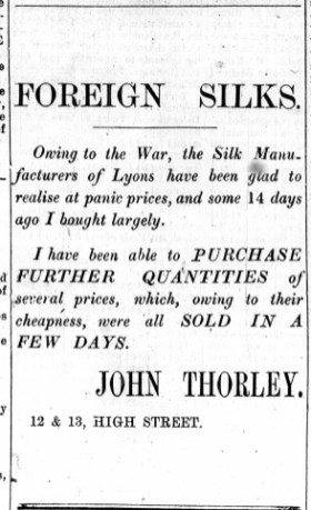 1870 Oct 1st John Thorley @ Nos 12 & 13