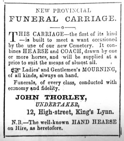1860 John Thorley funeral carriage