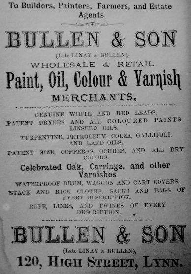 1884 Lynn News Almanack Bullen & Son