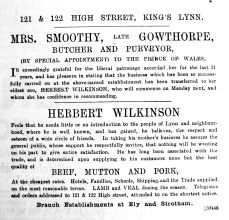 1893 Oct 28th Mrs Smoothy transfers to Wilkinson