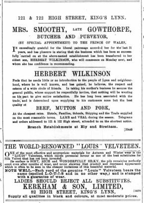 1893 October 28th Herbert Wilkinson @ Nos 121 & 122