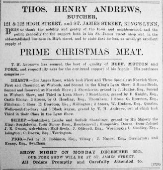 1909 Dec 17th T H Andrews