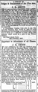 1866 Feb 16th J. R. Smith @ No 121
