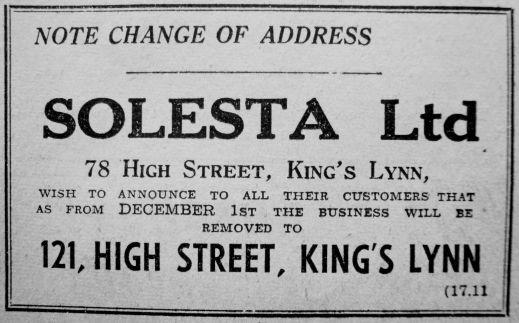 1950 Nov 17th Solesta moving in