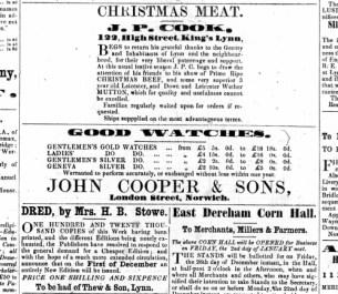1856 Dec 13th J P Cook @ No 122