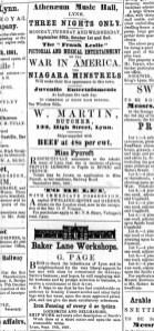 1861 Sept 28th W Martin @ No 122
