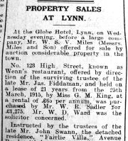 1923 Jan 26th Sold to W R Sadler