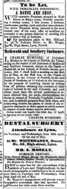 1846 May 16th Hillard letting No 14 query see No 80