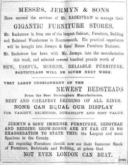 1894 May 26th Jermyn & Sons Mr Rackstraw