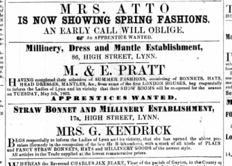 1863 May 2nd Mrs G Kendrick @ No 17a