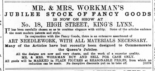 1887 May 21st Mr & Mrs Workman @ No 18