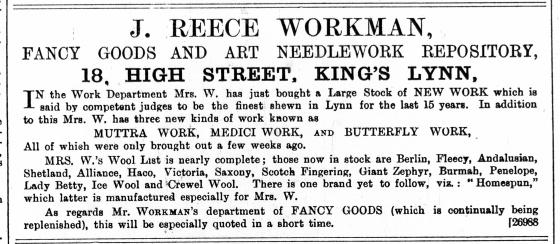1887 October 15th J Reece Workman @ No 18