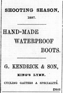 1897 Aug 27th G Kendrick & Son @ Nos 19 & 20