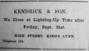 1917 Sept 21st Kendricks