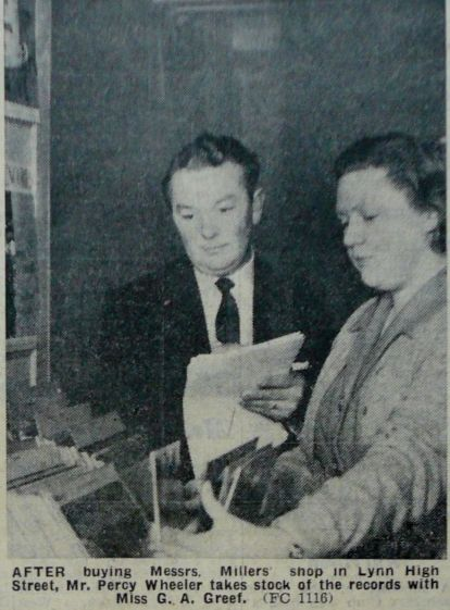 1962 Jan 12th Percy Wheeler buys Millers