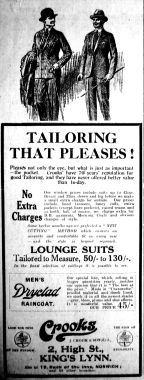1927 Mar 18th Crooks Tailoring