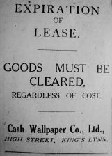 1926 June 11th Cash Wallpaper Co expiration of lease