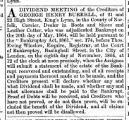 1864 October 15th G H Burrell @ Nos 21 & 22