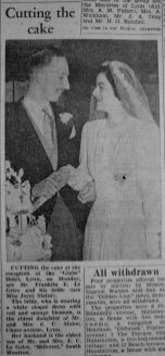 1949 April 8th Franklin Le Grice weds 1