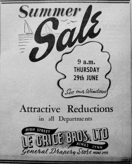 1950 June 23rd Le Grice Bros