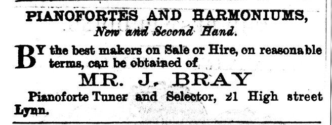 1870 3rd Sept J Bray