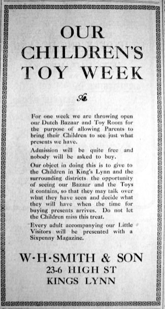 1913 Nov 21st W H Smith