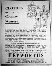 1927 Sept 30th Hepworths