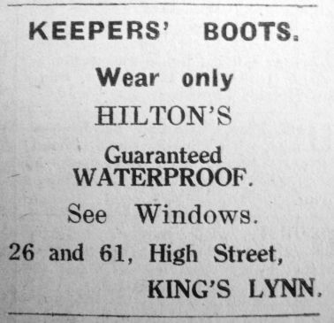 1926 Sept 17th Hiltons boots