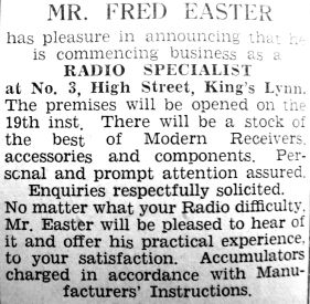 1934 Mar 16th Fred Easter opens