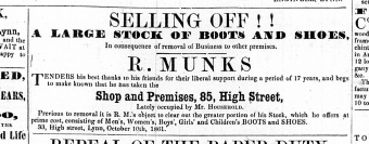 1861 Oct 12th R Munks moves from No 33 to No 85