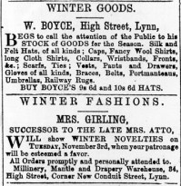 1868 Oct 31st Girling ex Atto @ No 34