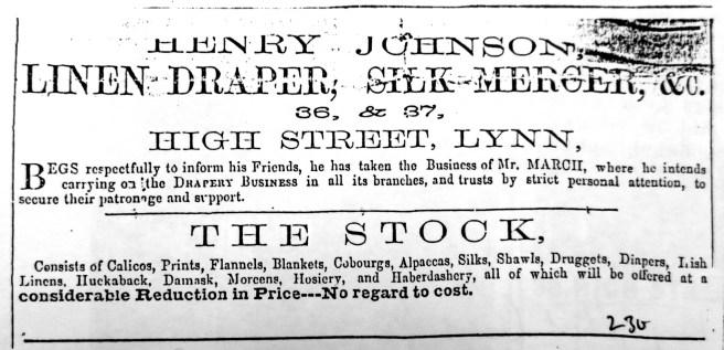 1859 Sept 24th Lynn Record Henry Johnson 02