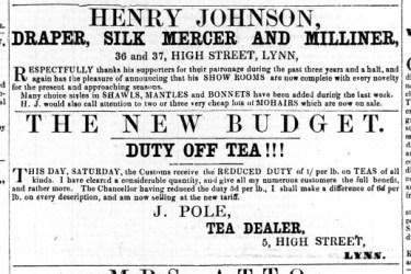 1863 April 25th Henry Johnson @ Nos 36 & 37