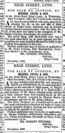 1865 Nov 11th No 36 & 37 for sale