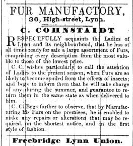 1842 June 7th C Cohnstaidt