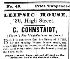 1843 Nov 7th C Cohnstaidt