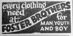 1936 Aug 21st Foster Brothers