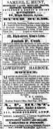 1854 Oct 7th Samuel L Hunt @ No 38