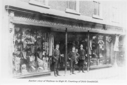 1900 (approx) William Dack Walton outside No 38, High Street (Vera Witt)