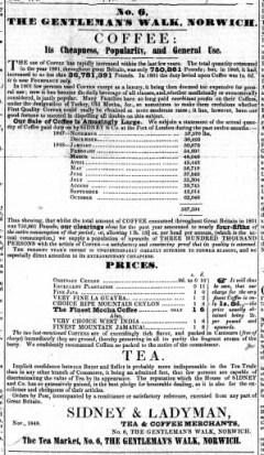 1848 Nov 25th Ladymans @ Gentlemans Walk re Nos 39 to 41